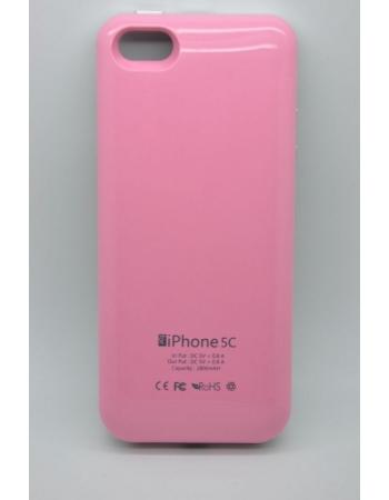 Чехол-аккумулятор Iphone 5c, 2800 Mah. Розовый цвет