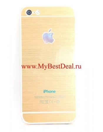 Виниловая наклейка для Iphone 5/5s, золотой цвет. Комплект