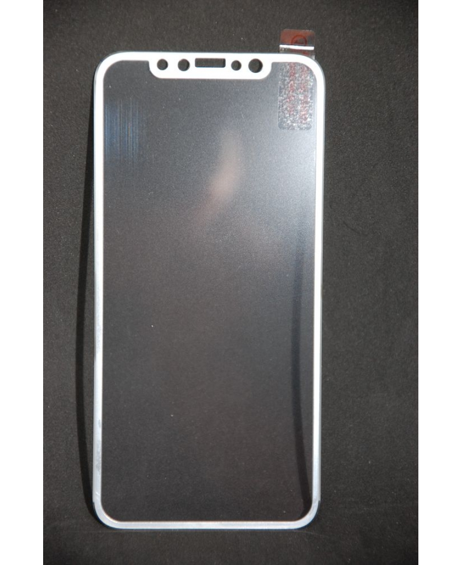 Защитное 3d стекло для iphone X. Белый цвет