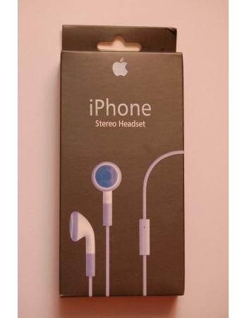 Гарнитура для Iphone с микрофоном. В коробке