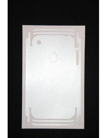 Карбоновая пленка для Iphone 3g/3Gs. Алюминиевый цвет