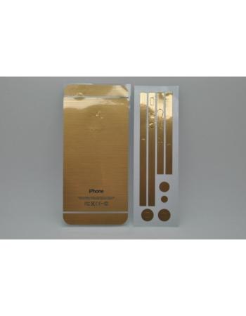 """Виниловая наклейка Iphone 5 """"Золото"""". Комплект"""