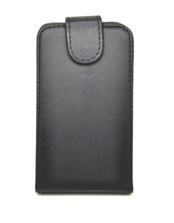 Кожаный чехол Flip Blackberry Q10. Черный цвет