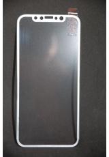 Защитное 3D стекло для Iphone X Baseus Anti Bluelight. Белый цвет