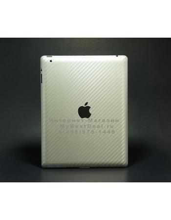 Карбоновая наклейка Ipad 2. Золотой цвет