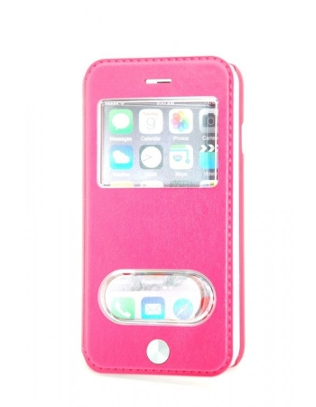 Кожаный чехол Iphone 6 (4.7) flip kalaixing. Красный цвет