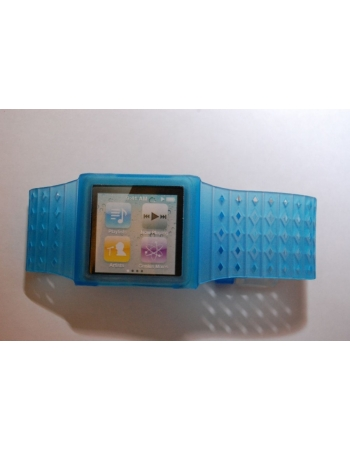 Браслет-часы для Ipod Nano 6. Голубой цвет