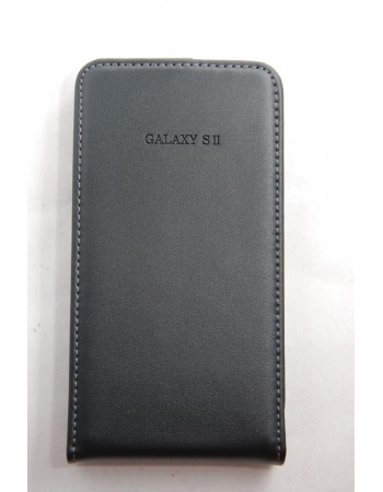 Кожаный чехол для Samsung Galaxy S2. Черный цвет