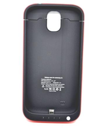 Чехол-аккумулятор Samsung Galaxy S4, 4200 Mah. Черный+красный цвет