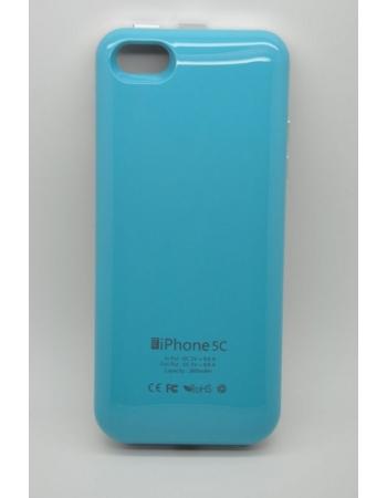 Чехол-аккумулятор Iphone 5c, 2800 Mah. Голубой цвет