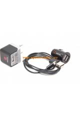 Комплект зарядных устройств Griffin Powerjolt Iphone 5 lightning 3 в 1. Черный цвет