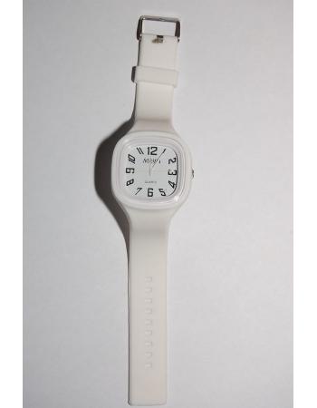 Силиконовые наручные часы. Белый цвет