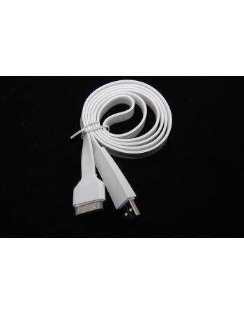 Плоский кабель для Iphone. Белый цвет