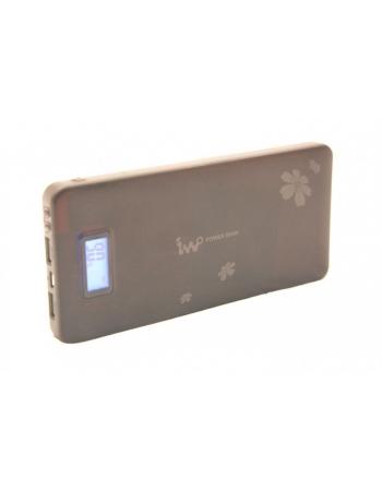 Мобильный аккумулятор iwo Power Bank с LCD 13200 mah. Черный цвет