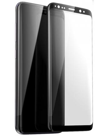 Защитное 3D стекло Samsung Galaxy S9 PLUS. Черный цвет