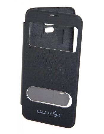 Чехол Samsung Galaxy S5 flip. Черный цвет