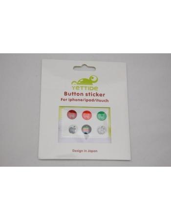 Комплект наклеек для кнопки Home, 6 шт