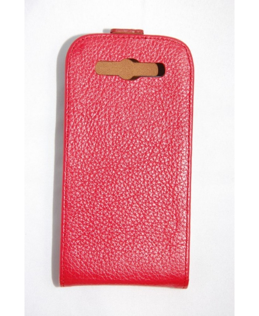 Кожаный чехол Samsung Galaxy S3. Красный цвет