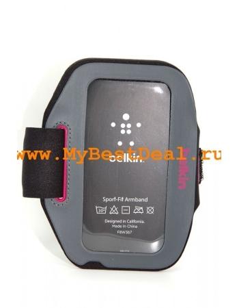 Спортивный чехол Belkin Iphone 5/5s/5c F8W367BTC00. Серый+розовый цвет
