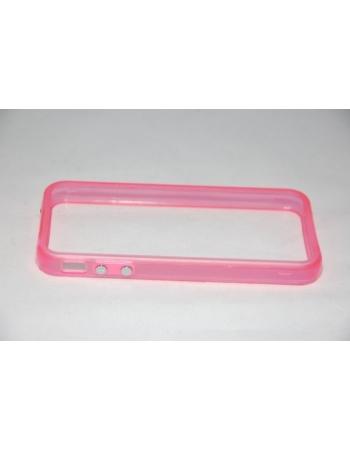Светящийся флуоресцентный  чехол Iphone Bumper 4/4s. Розовый цвет