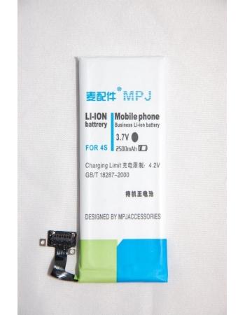 Усиленный аккумулятор Iphone 4s MPJ, 2500 Mah