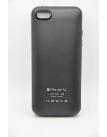 Чехол-аккумулятор Iphone 5c, 2800 Mah. Черный цвет