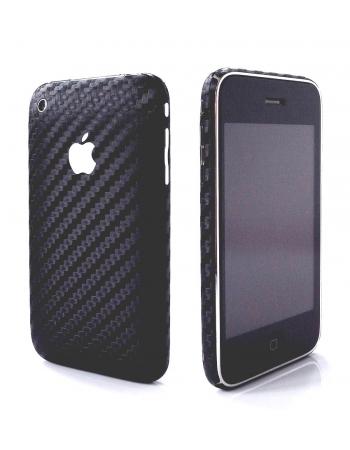 Карбоновая наклейка для Iphone 3G/3GS. Черный цвет