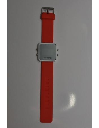 Светодиодные зеркальные часы, оранжевый цвет
