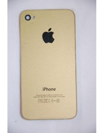 Крышка (панель) для Iphone 4. Золотой цвет
