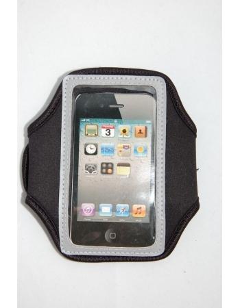 Спортивный чехол на руку для Iphone 4/4s. Черный+серый цвет
