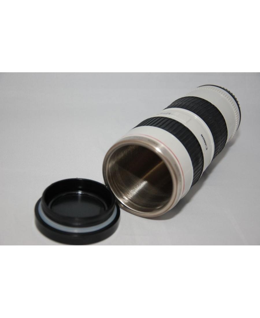 Термокружка-объектив Canon EF 70-200mm. Белый цвет