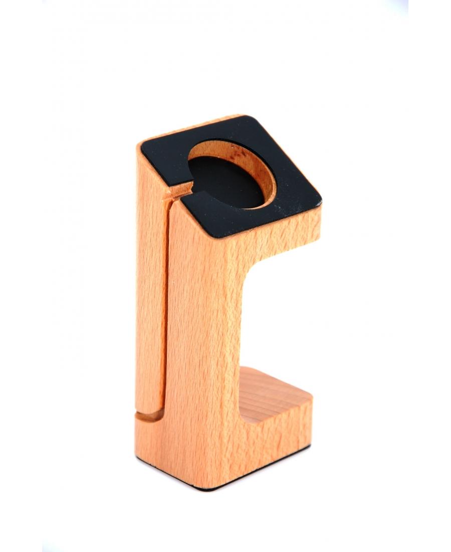 Настольная деревянная подставка для Apple Watch. Цвет Бук